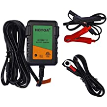 HOYOA 12v 750mA Trickle Battery Charger Maintain Charger Lead Acid Gel/AGM for Car Automotive Boat Motorcycles and Lawn Mower