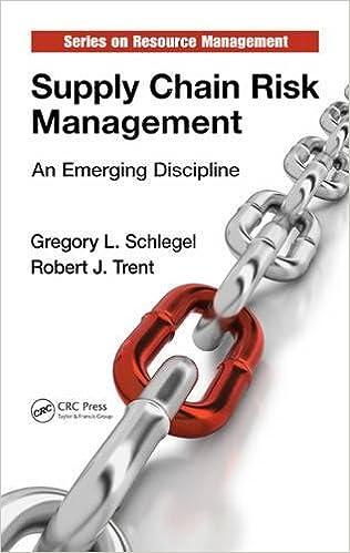 Supply Chain Risk Management: An Emerging Discipline: Schlegel, Gregory L.,  Trent, Robert J.: 9781482205978: Books - Amazon.ca