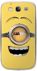 Zing Revolution MS-DMT350415 Despicable Me 2 - Goggle Head 3 Cell Phone Cover Skin for Samsung Galaxy S III - Retail Packaging - Multicolored