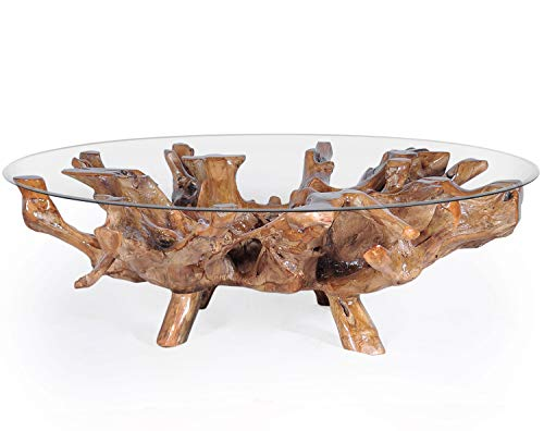 (Solid Teak Wood Root Coffee Table Including 63