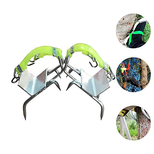 - Antrixer Tree Pole Climbing Spikes Stainless Steel Tree Climbing Tool Shoes Multifunction Pole Climbing Spikes Hook with Safety Belt