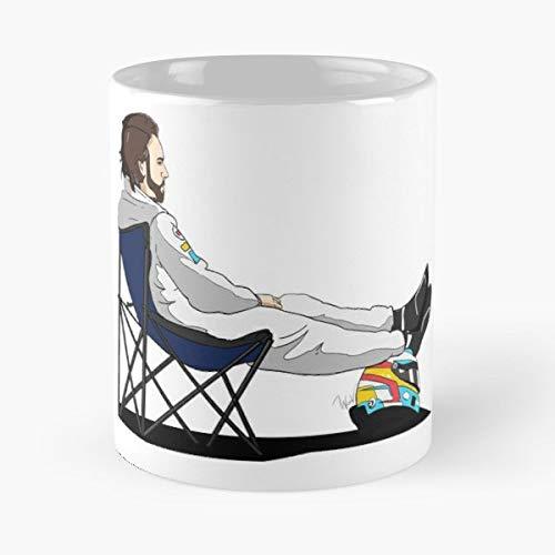 Fernando Alonso Helmet - F1 Formula1 Fernando Alonso Pirelli Gift Coffee/tea Ceramic Mug Father Day