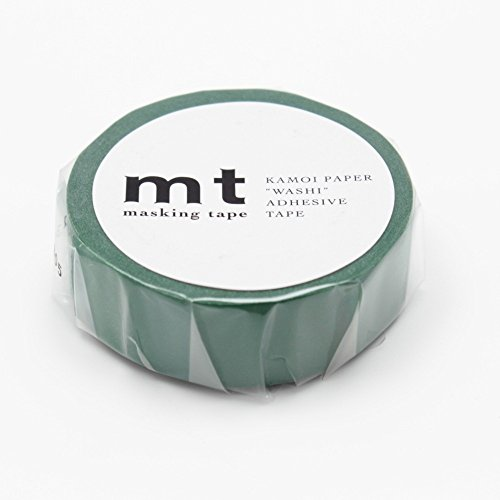 "MT Solids Washi Paper Masking Tape, 3/5"" x 33', Peacock (MT01P204)"