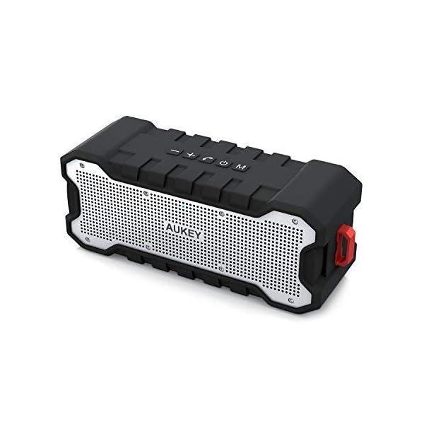AUKEY Enceinte Bluetooth Portable Waterproof IPX7 avec 30 Heures de Lecture, Haut-Parleur Bluetooth Portable sans Fil pour Portable et Tablette 1