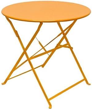 Orange Eyepower 14670 de en métal pliable Table jardin ulF3KT1Jc