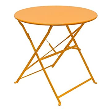 Eyepower 14670 Table de jardin pliable en métal Orange: Amazon.fr ...