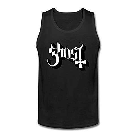 CHENGXINGDA CHENGXINGDA Men's Swedish Heavy Metal Band Ghost Logo tank top Size S (Heavy Metal Band Murder)