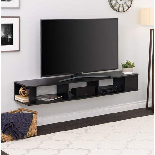 (Modern Wall Mounted TV Stand Console Storage Media TV Cabinet Display Shelf Shelves Unit Living Room Furniture Organizer Entertainment Center)