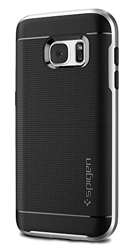 Spigen Neo Hybrid Galaxy S7 Case with Flexible Inner Protection and Reinforced Hard Bumper Frame for Samsung Galaxy S7 2016 - Satin Silver