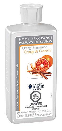 Orange Cinnamon | Lampe Berger Fragrance Refill by Maison Berger | for Home Fragrance Oil Diffuser | Purifying and perfuming Your Home | 16.9 Fluid Ounces - 500 milliliters | Made in France ()
