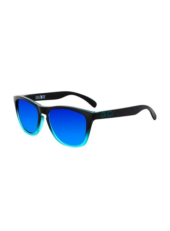 KOALA BAY Gafas de Sol Palm Beach Bicolor Negro Azul Lentes Azul Espejo: Amazon.es: Ropa y accesorios
