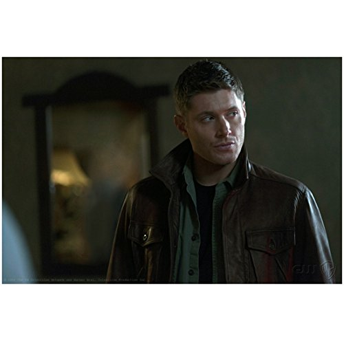 Jensen Ackles 8 inch X 10 inch photograph Supernatural (TV Series 2005 - ) Wearing Brown Over Green Over Black Looking Left kn