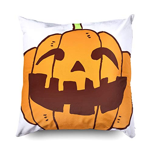 Shorping Zippered Pillow Covers Pillowcases 18X18 Inch Halloween Pumpkin Decorative Throw Pillow Cover,Pillow Cases Cushion Cover for Home Sofa -
