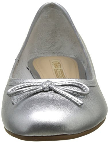 2590 London 16 Vegetal ZS Ballerine Leather Buffalo Silver Argento Donna dqtfnEZn