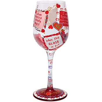 Amazon Com Hand Painted Wine Glass Best Valentine S Day Gift Wine