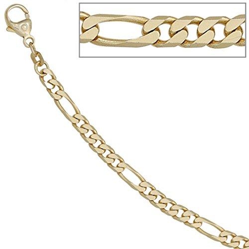 Bracelet figaro chaine femmes 585 or jaune 14 cts longueur de 18,7 cm largeur 0,44 cm