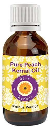 dève herbes Pure Peach Kernel Oil (Prunus persica) 100% Natural Cold presssed Therapeutic Grade (1250ml (42oz)) by Deve Herbes