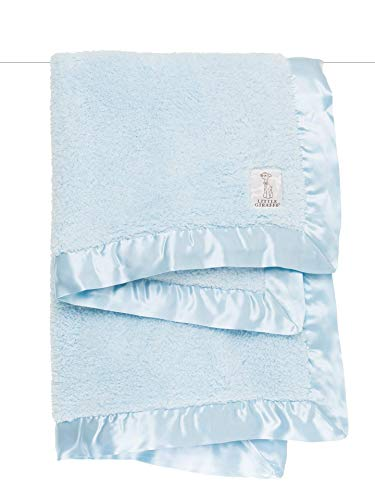 Little Giraffe Chenille Stroller Baby Blanket, Blue, 29' x 35'