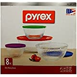 Pyrex 8-piece 100 Years Glass Mixing Bowl Set (Limited Edition)