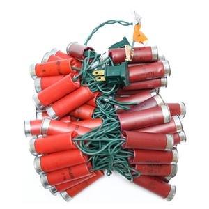 More Than Christmas 15031 - 50 Light Green Wire Red Shotgun Shell String Set (SLO50-21)