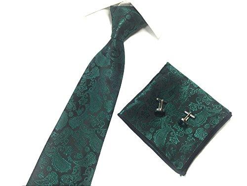 Men Dark Green Ties Designer Necktie for Wedding Party Fancy Dad Brother BF (Fancy Dress Ties)