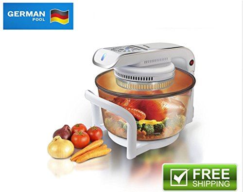 German Pool 120V Multi-Purpose 12 Litre Halogen Cooking Pot Combining (12l Pot)