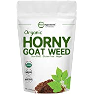 Maximum Strength Organic Horny Goat Weed for Men and Women (Epimedium Supplement 100 Grams), Energy and Immune System Booster, Water Soluble for Best Absorption, Non-GMO and Vegan Friendly