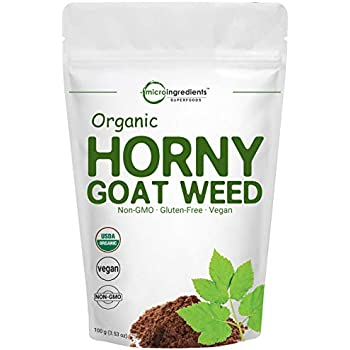 Maximum Strength Organic Horny Goat Weed for Men and Women, 100 Grams,  Powerfully Supports