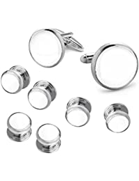Men's Classic Cufflinks and Studs Set for Tuxedo Formal Kit