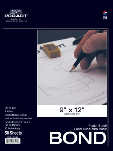PRO ART 14-Inch by 17-Inch Bond Paper Pad