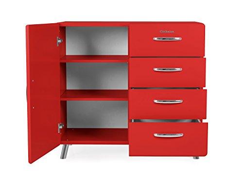 Black 92 x 98 x 41 cm TENZO Designer Cabinet