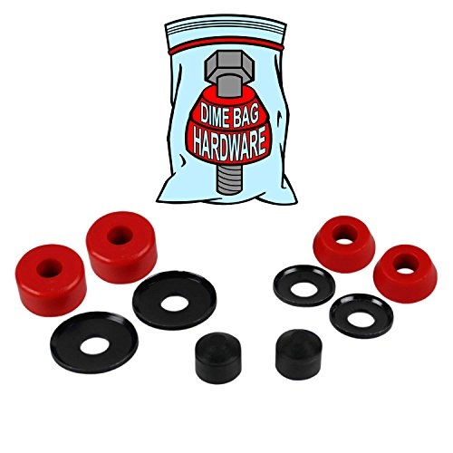 Skateboard Truck Rebuild Kit Bushings Washers Pivot Cups for 2 Trucks (red) -