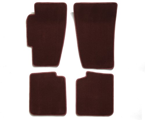 Premier Custom Fit 4-piece Set Carpet Floor Mats for Mercedes-Benz 280SL (Premium Nylon, Wine)