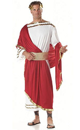 Fancy Caesar Roman Emperor Spartan 300 Greek Adult Toga Costume ()