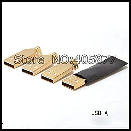 One Set Copper Gold Plated USB A+USB B Type A-B Plug For DIY USB Cable hifi USB connector Laliva Plugs Standard: Other