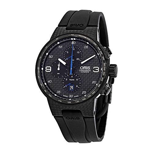 (Oris Oris Williams F1 Team Black Carbon Fiber Dial Automatic Men's Chronograph Watch 01 674 7725 8734-07 424 54FCTB)