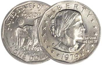 1979 P Single - Susan B. Anthony Dollar Uncirculated US Mint