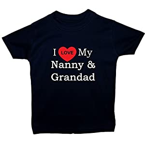 Acce Products I Love My Nanny & Grandad Baby/Children T-Shirt/Tops 0 to 5 Years