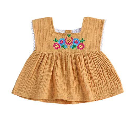 - 2PCS Toddler Baby Girls Summer Short Set Solid Color Round Neck T-Shirt + Ruffled Shorts Clothes Set ...