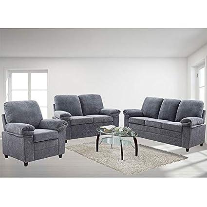 Prime London Luxury Edition Living Room Set In Grey Chenille Download Free Architecture Designs Ogrambritishbridgeorg