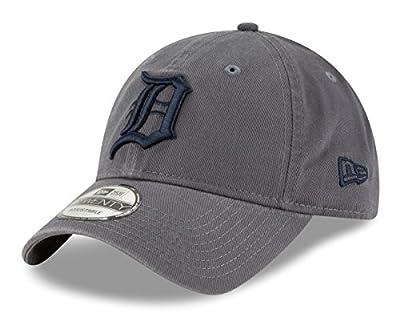 New Era Detroit Tigers MLB 9Twenty Twill Core Classic Adjustable Graphite Hat from New Era