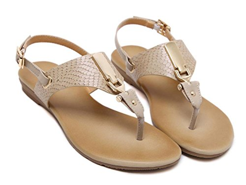 Sommer Sandalen Schnalle Sandalen Frauen Pantoffeln flachen Sandalen Frauen apricot