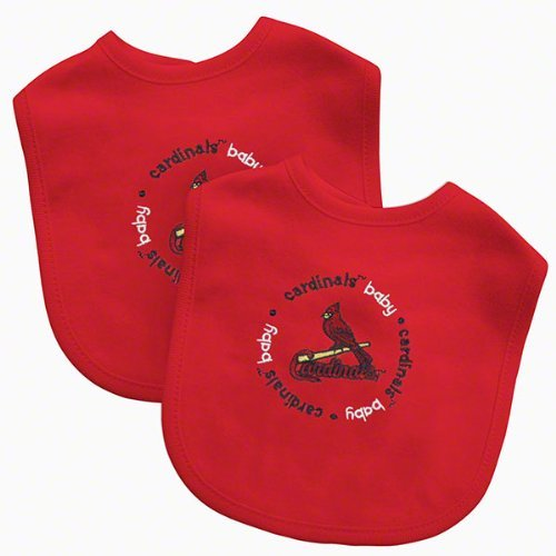 Baby Fanatic Team Color Bibs, St Louis Cardinals, 2-Count (Discontinued by Manufacturer)