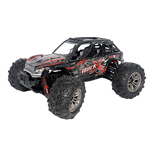 WEIJIJ 36KMH RC Car 4WD Monster Truck 1:16 Scale 2.4Ghz Off-Road Remote Control Car RTR Toys Boys Kids Gift Christmas Halloween New Year (Red) ()