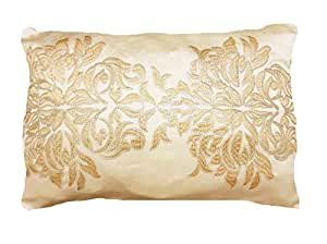 Gold and White Sequins cushion cover