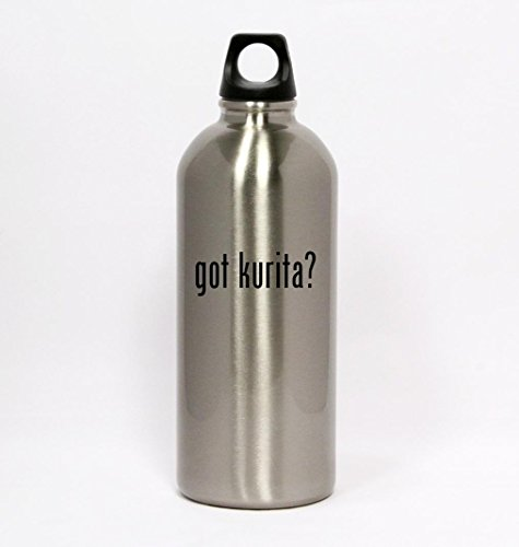 Got Kurita    Silver Water Bottle Small Mouth 20Oz