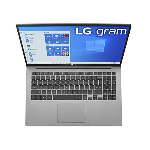 "LG Gram Laptop - 15.6"" Full HD IPS, Intel 10th Gen Core i5 (10210U CPU), 8GB DDR4 2666MHz RAM, 512GB NVMeTM SSD, Up to 21 Hours Battery, Intel UHD Graphics - 15Z995-U.ARS6U1 (2020)"