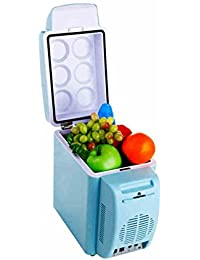 SL&BX Mute car refrigerator,7l refrigerator home mini student dorm breast milk refrigeration 24v mini fridge small freezer cooler fridge-Blue 30.3x17x31cm(12x7x12inch)