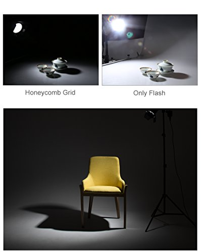 Ultrapure BD-04 Barn Door Honeycomb Grid 4 Color Filter + Bowens Mount Reflector for Studio Flash by Ultrapure (Image #7)