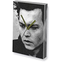 JOHNNY DEPP - Canvas Clock (A5 - Signed by the Artist) #js008